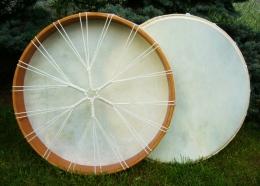 Šamanský rámový buben z Bali, palička